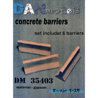 Concrete barriers (6 pcs)