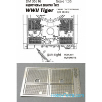 Grilles 1/35 for Tiger, WWII