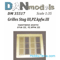 Photo-etched set 1/35 grilles for Stug III, Pz.Kpfw.III