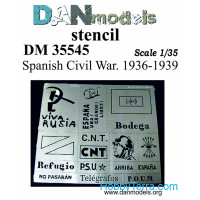 Stencil - Spanich civil war 1936-39