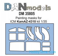 Painting masks for Kamaz-4310, for ICM kit
