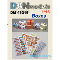 Paper material for diorams.Cardboard boxes in stock. Set # 1