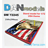 Display stand. USA theme, 240x290mm