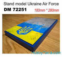 Display stand. Ukrainian AF, 280x180mm