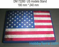 Display stand. USA theme, 240x180mm
