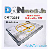 Display stand. Helicopter parking theme, 180x240mm