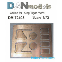 Photo-etched set 1/72 Grilles for King Tiger