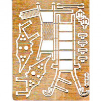 DAN models  72502 Photo-etched set 1/72 ladder, pads, mirrors, antenna for MiG-29