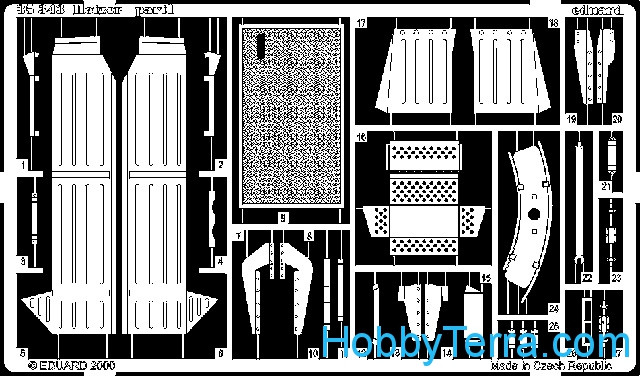 Photo-etched set 1/35 Hetzer, for Italeri kit