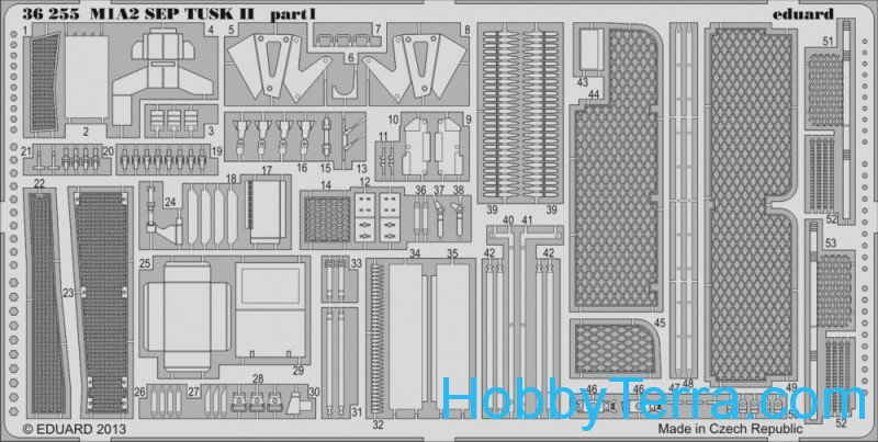 "Eduard  36255 Photo-etched set 1/35 M1A2 ""Sep Tusk II"", for Tamiya kit"