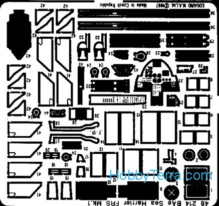 Eduard  48214 Photo-etched set 1/48 Bae Sea Harrier FRS, for Airfx kit
