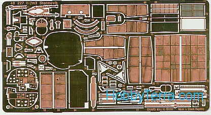 Photo-etched set 1/48 IL-2m3 Sturmovik, for Accurate Miniatures kit