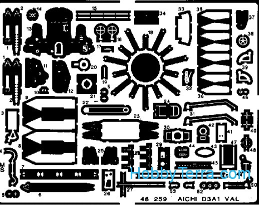 Eduard  48259 Photo-etched set 1/48 Aichi D3A1 Val, for Hasegawa kit
