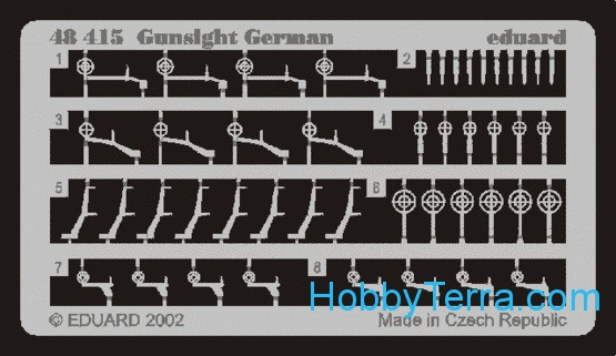 Photo-etched set 1/48 Gunsight German