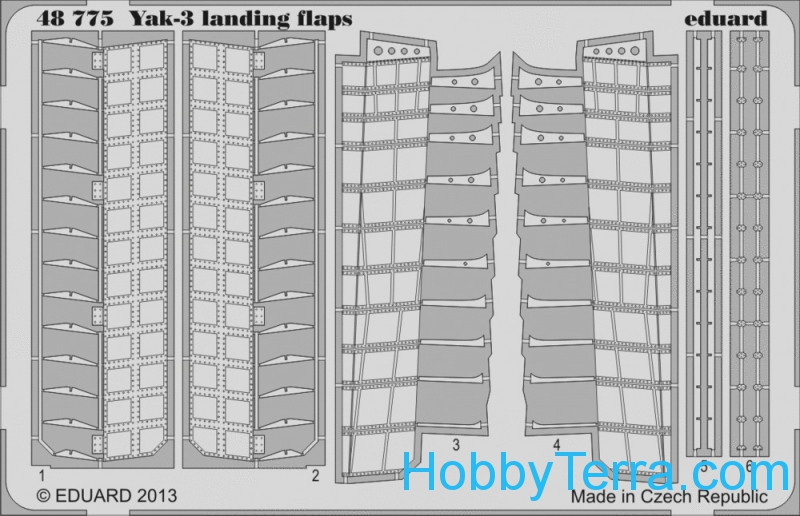 Eduard  48775 Photoetched set 1/48 Yak-3 landing flaps, for Zvezda