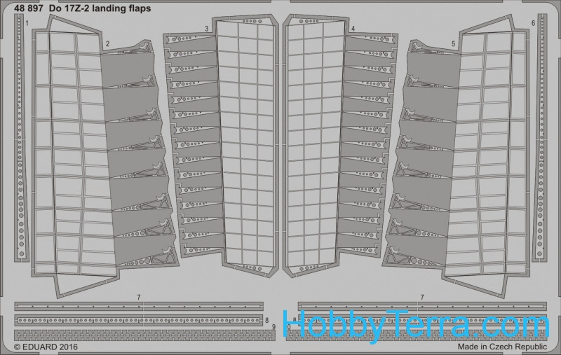 Eduard  48897 Photo-etched set 1/48 for Do 17Z-2 landing flaps, for ICM kit