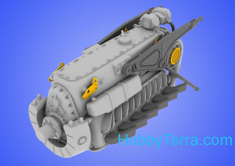 1/48 DB 601 A/N engine, for Eduard kit