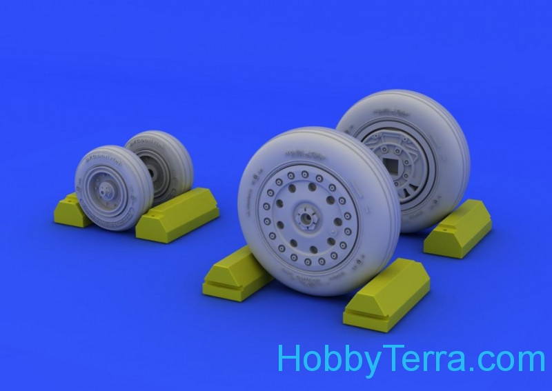 Brassin 1/48 F-4B/N wheels, for Academy kit