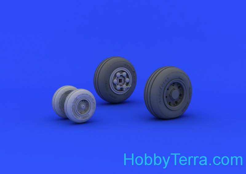 Brassin Wheels set 1/48 Tornado IDS, for Revell kit