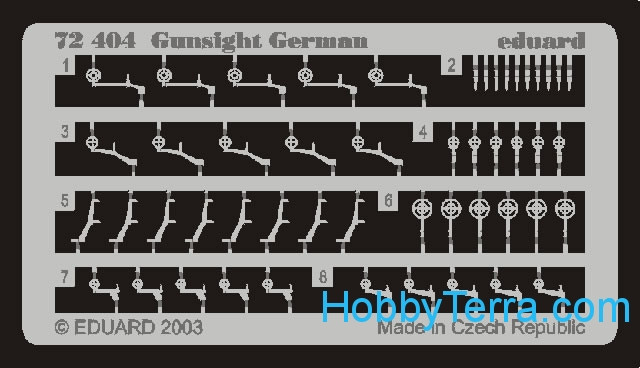Eduard  72404 Photo-etched set 1/72 Gunsight German