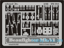 Photo-etched set 1/48 BeaufighterMk.VI, for Tamiya kit