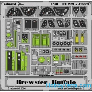 Photo-etched set 1/48 Brewster Buffalo, for Tamiya kit