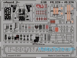 Photo-etched set 1/48 P-39Q/N Airacobra Color, for Hasegawa kit