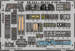Eduard  FE544 Photo-etched set 1/48 F-5E interior Color, for AFV Club kit