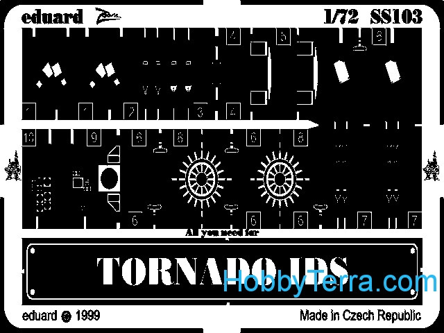 Photo-etched set 1/72 Tornado IDS, for Revell kit
