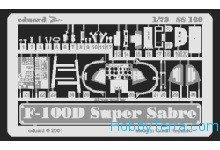Eduard  SS169 Photo-etched set 1/72 F-100D SuperSabre, for Italeri kit