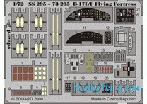 Photo-etched set1/72 B-17E/F Flying Fortress Color, for Academy kit