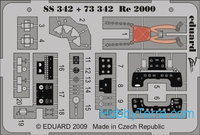 Eduard  SS342 Photo-etched set 1/72 Re 2000 Color, for Italeri kit