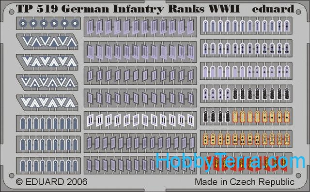 Eduard  TP519 Photo-etched set 1/35 WWII German infantry ranks