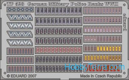 Eduard  TP523 Photo-etched set 1/35 WWII German Military Police ranks
