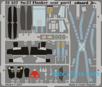 Photo-etched set BIG-ED 1/32 Su-27B Flanker, for Trumpeter kit