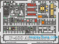 Photo-etched set BIG-ED 1/48 P-39/P-400 Airacobra, for Hasegawa kit