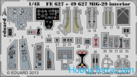Photo-etched set BIG-ED 1/48 MiG-29, for G.W.H. kit