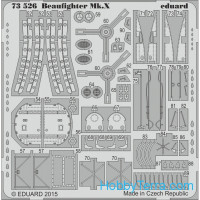 Photoetched set BIG-ED 1/72 Beaufighter Mk.X