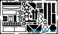 Photo-etched set 1/35 T-28 medium tank, for AER kit
