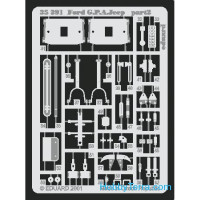 Photo-etched set 1/35 Ford G.P.A Jeep, for Tamiya kit