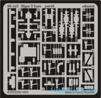 Photo-etched set 1/35 Tiger I late, for Tamiya kit