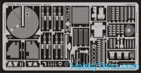 Photo-etched set 1/35 M-3 Grant interior, for Academy kit