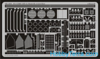 Photo-etched set 1/48 Fi 156C-3/C-5 Storch exterior, for Tamiya kit