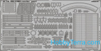 Photo-etched set 1/48 MiG-21BIS exterior, for Eduard kit