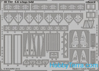 Photo-etched set 1/48 A-6 wing fold, for KIN kit