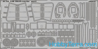 Photo-etched set 1/48 A-6E TRAM exterior, for KIN kit