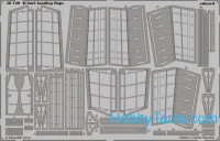 Photo-etched set 1/48 Ilyushin IL-2m3 landing flaps, for Tamiya kit
