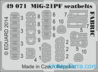 Photo-etched set 1/48 MiG-21PF seatbelts FABRIC, for Eduard kit