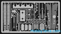 Photo-etched set 1/48 P-38J color, for Hasegawa kit