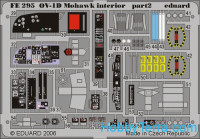 Photo-etched set 1/48 OV-1D Mohawk interior, for Roden kit